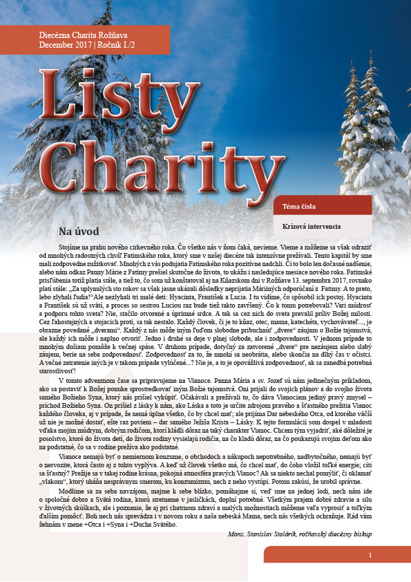 Listy Charity, december 2017